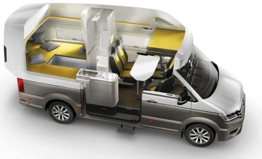 Diseno de furgoneta camper compacta