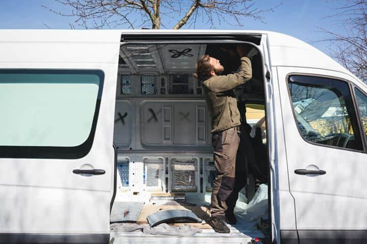 El proceso de conversión en furgonetas