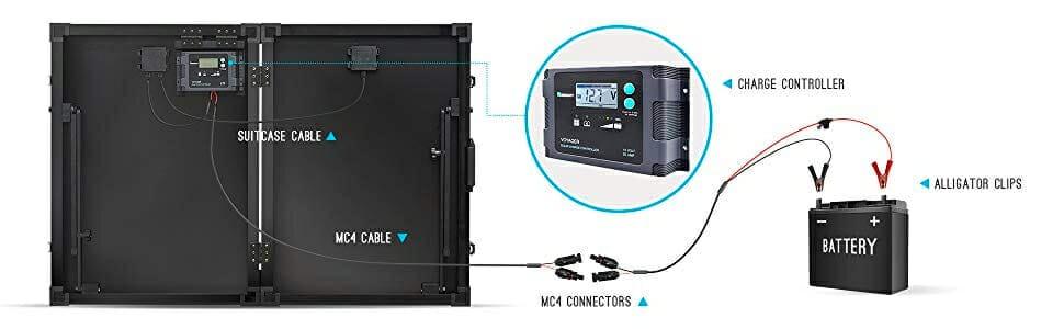 Instalación de maletas solares portátiles