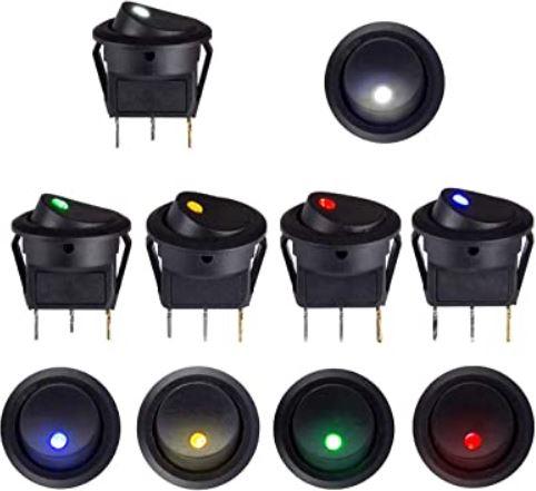 Interruptores 12V para Furgoneta camper o RV