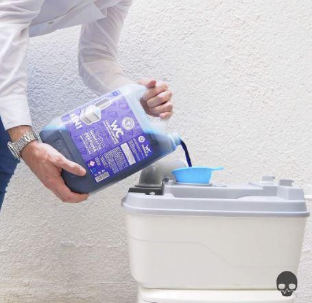 ¿Qué es el Limpiador desinfectante para wc portátil?
