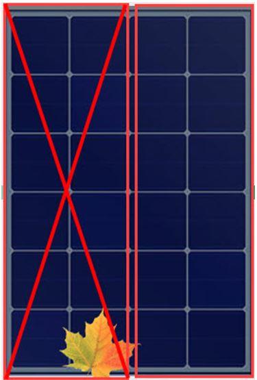 el panel solar aqui da un 50 de salida