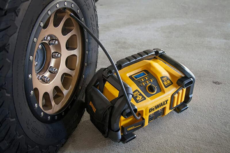 filling tire portable jump starter