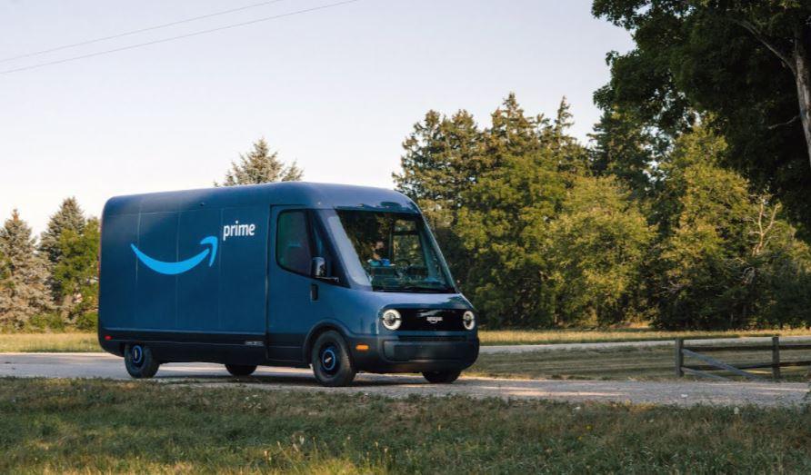 furgoneta de entrega electrica Rivian Prime de Amazon