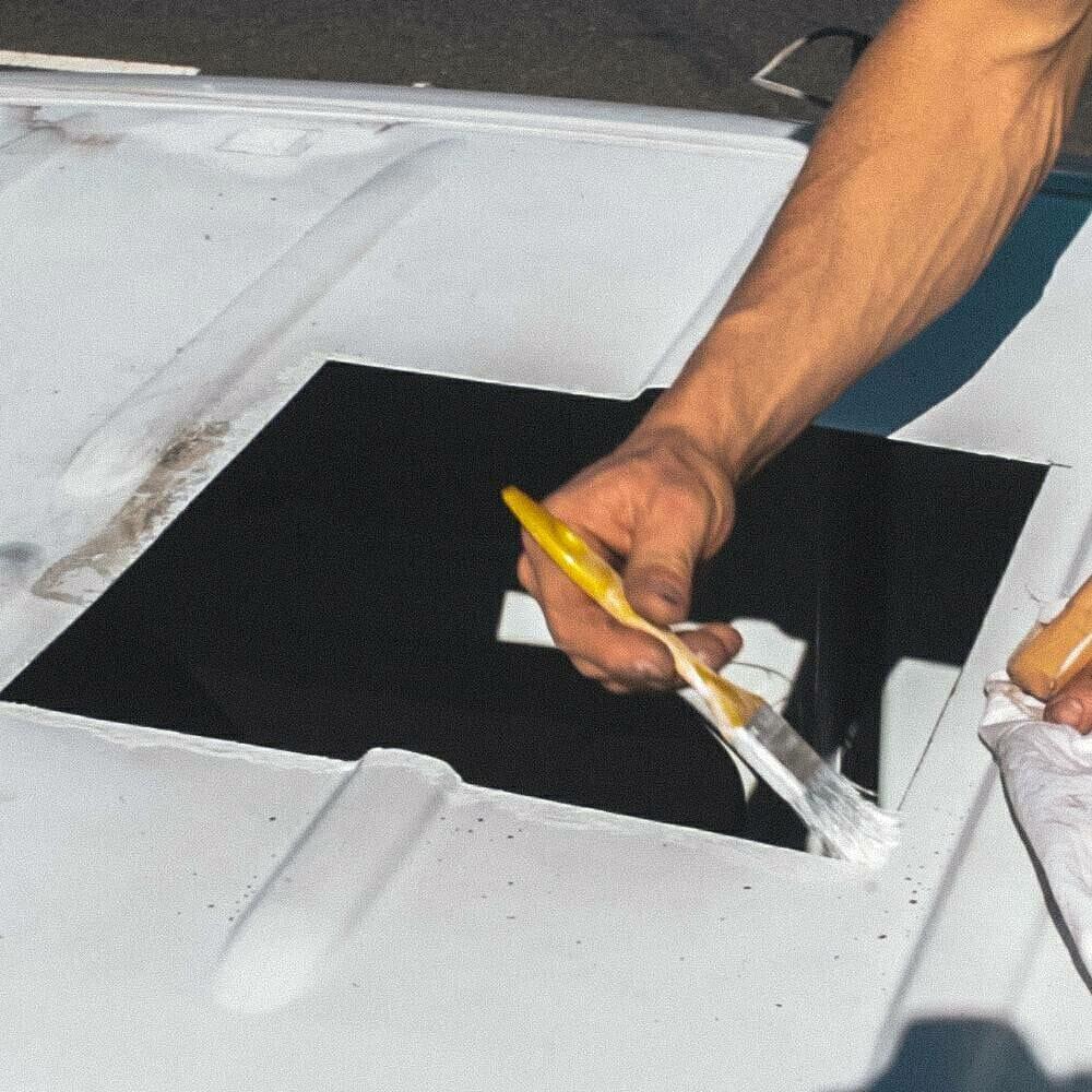 Limpiando los bordes - instalando un ventilador