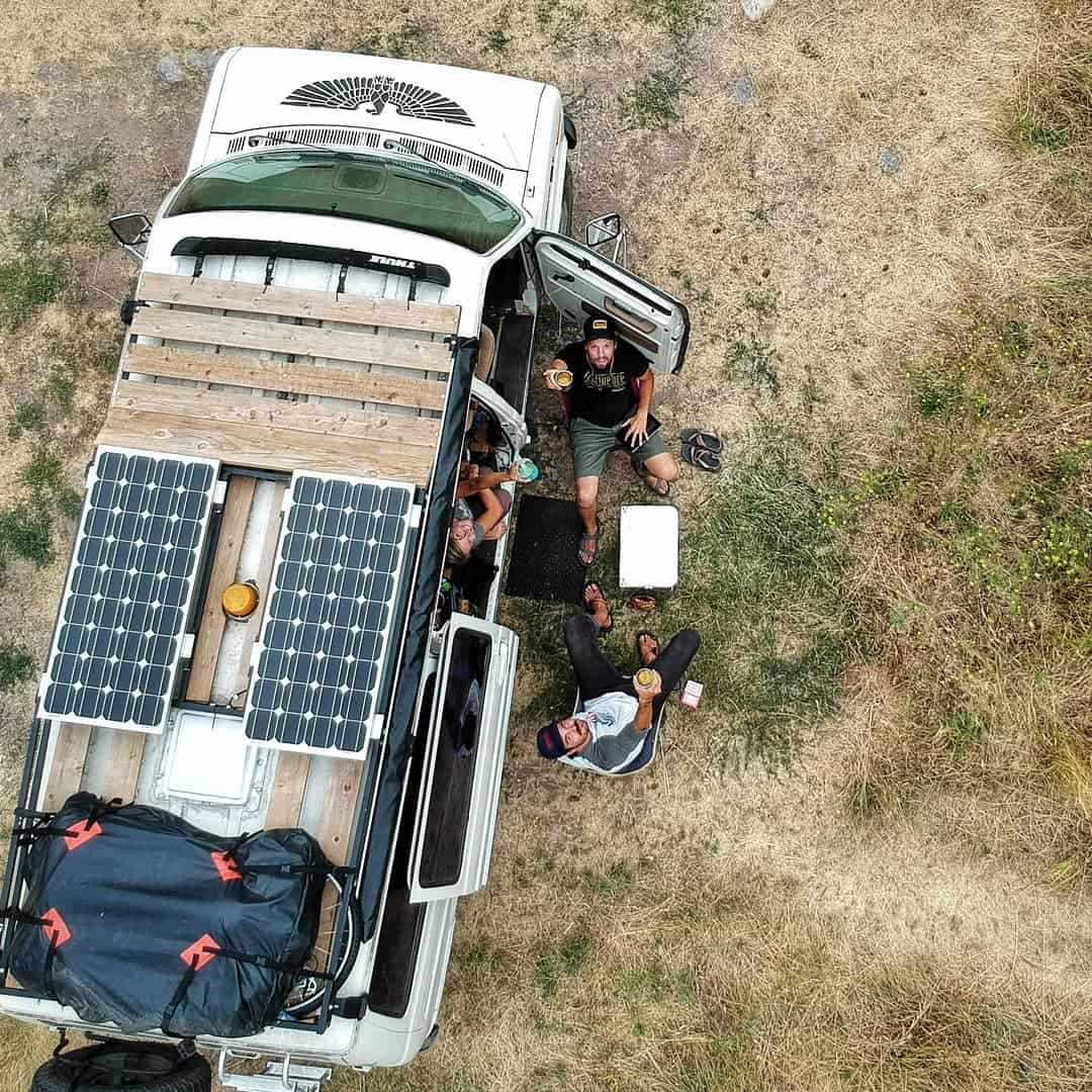 solar panels campervan conversion